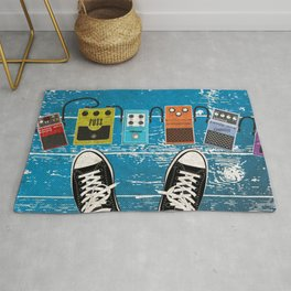 Guitar Music Effect Pedals Rug