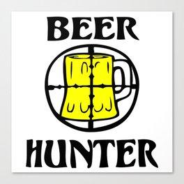Beer Hunter Canvas Print