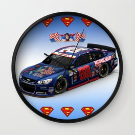 My @DaleJr #SuperMan design. #NASCAR Wall Clock