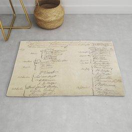 United States Constitution Signatures Rug