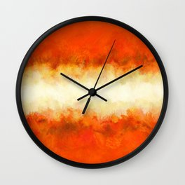 Tangerine Sunshine Wall Clock