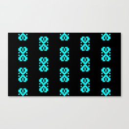 Traditional Romanian folk art knitted embroidery pattern Canvas Print
