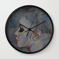 ballerina Wall Clocks featuring Ballerina by Michael Creese