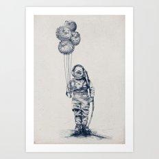 Balloon Fish - monochrome option Art Print