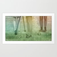 heathers Art Prints featuring Heathers by Alexia Rose