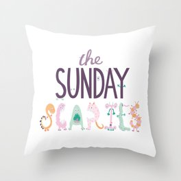 The Sunday Scaries Throw Pillow