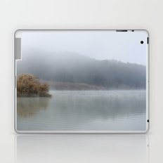 Wilderness lake. Foggy sunrise Laptop & iPad Skin