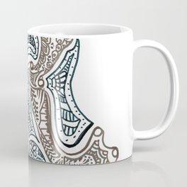 "26. Henna Letters of the Alphabet "" K "" Coffee Mug"