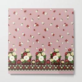 flower garden - pink Metal Print