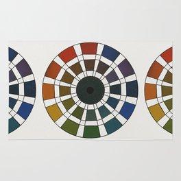 Rouget de Lisle - Table Chromatique 1838, Remake, faded version Rug