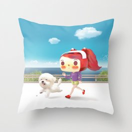 Road Running Throw Pillow