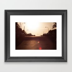 Alicante Sunset Framed Art Print