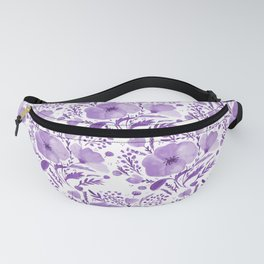 Flower bouquet with poppies - purple Fanny Pack