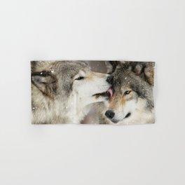 Wolf Kisses Hand & Bath Towel