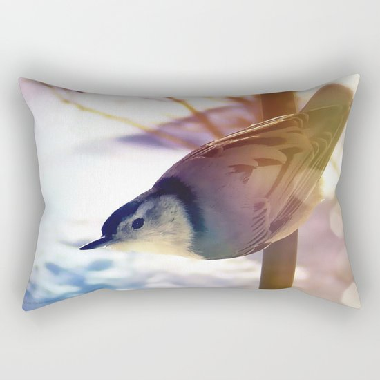 White-Breasted Nuthatch Rectangular Pillow