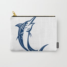 Blue Marlin Jumping Retro Carry-All Pouch