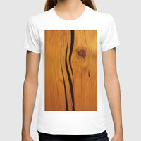 wooden T-shirts featuring Wooden texture by DistinctyDesign