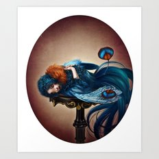 Bluebird of Happiness Art Print