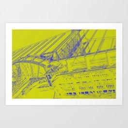 Manhattan Bridge - Green Art Print