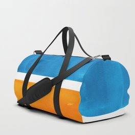 Colorful Jewel Tones Blue Gold Color Block Minimalist Watercolor Art Modern Simple Shapes Duffle Bag