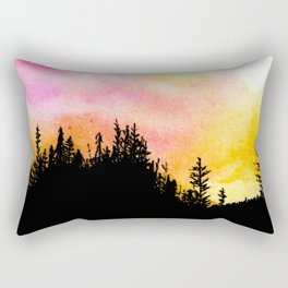 Colorful Forest Skies Rectangular Pillow