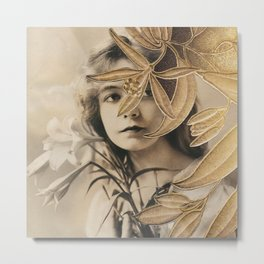 The Gilded Lillian Metal Print