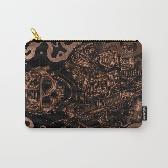 Military skull Carry-All Pouch