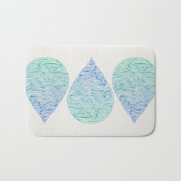 Water Drop – Blue Ombré Bath Mat