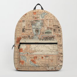 Vintage Map of Beijing China (1903) Backpack