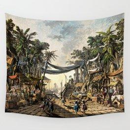 Market Scene in an Imaginary Oriental Port 1764 Wall Tapestry