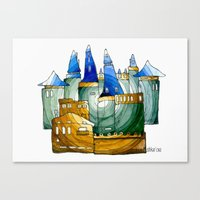 castle Canvas Prints featuring Castle by Irina  Mushkar'ova