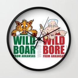 Wild Boar & Bill the Bore! Wall Clock