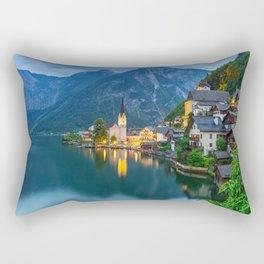 Hallstatt Village, Alps Rectangular Pillow
