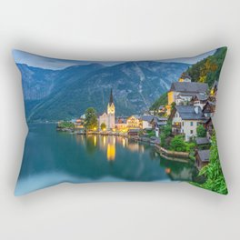 Hallstatt Village, Alps Rectangular Pillow
