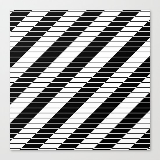 Simply Black And White (Abstract, geometric design) Canvas Print