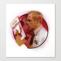 shaun of the dead Canvas Prints featuring Shaun of the Dead by Mark Eastbrook