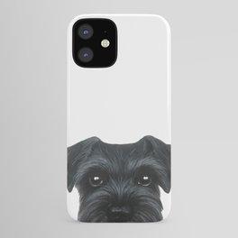 New Black Schnauzer, Dog illustration original painting print iPhone Case
