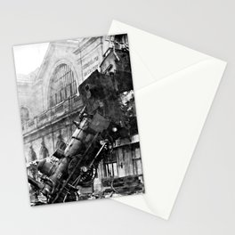 Train wreck at Montparnasse Station (1895) Stationery Cards