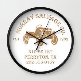 Murray Salvage Co. Wall Clock
