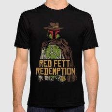 Red Fett Redemption Black Mens Fitted Tee MEDIUM