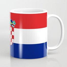 Flag of croatia -croatian, Hrvatska,croat,croacia,Zagreb,split,rijeka,osijek. Coffee Mug