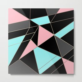 Abstraction . 5 geometric pattern Metal Print