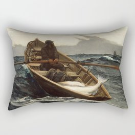 Winslow Homer, The Fog Warning, 1885 Rectangular Pillow
