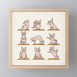 Sphynx Cat Yoga Framed Mini Art Print