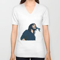 dave grohl V-neck T-shirts featuring Dave Grohl by Gnottingham