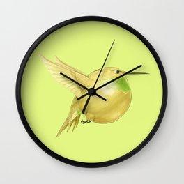 Hh - Honeybird // Half Hummingbird, Half Honeydew Melon Wall Clock