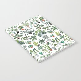 plants and pots pattern Notebook