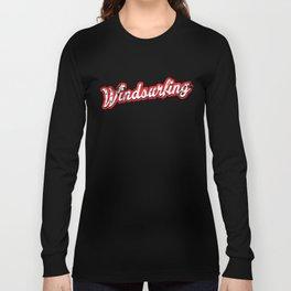 windsurfing - vintage & distressed Long Sleeve T-shirt