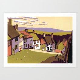Gold Hill Art Print
