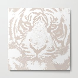 Pale Tiger Metal Print
